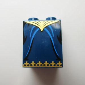 Dark Blue w/ Gold Waist & Bottom Trim Pattern