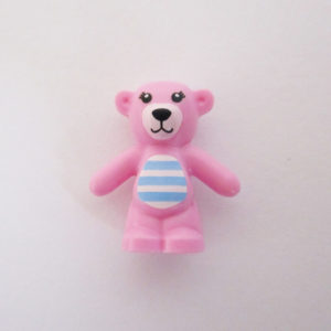 Teddy Bear - Pink w/ Light Blue & Pink Stripes