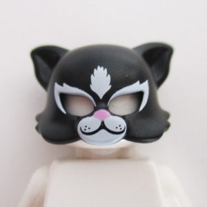 Cat Mask - Black w/ White