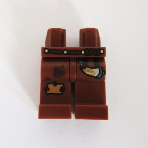 Brown w/ Patch & Horn Hanging On Belt