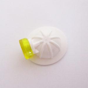Mining/Construction Helm - White w/ Yellow Headlamp