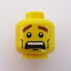 Dual Sided Head - Open Mouth w/ Scared Look