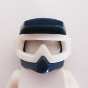Motorbike Helm - Dark Blue w/ Sports Goggles