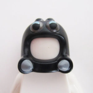 Spider Mask - Black w/ Silver