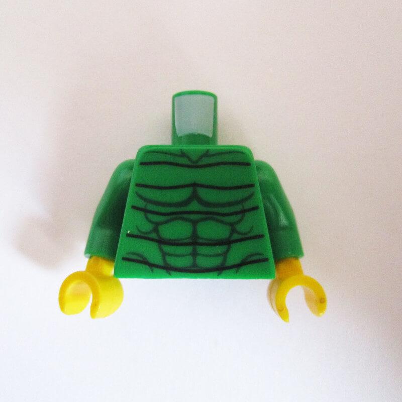 Green w/ Dark Green Muscles