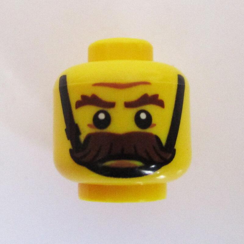 Big Mustache w/ Black Chin Strap