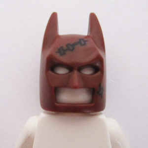 Batman Mask - Brown w/ Stiches