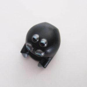 Spider Mask - Black w/ Silver