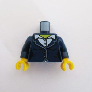 Dark Blue Suit Jacket w/ White Collar Shirt