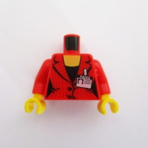 Red Suit Jacket w/ Press Pass Badge