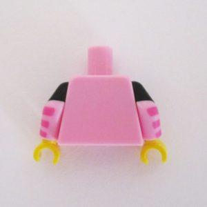 Bright Pink Tank Top w/ Black Shirt & Batman Logo