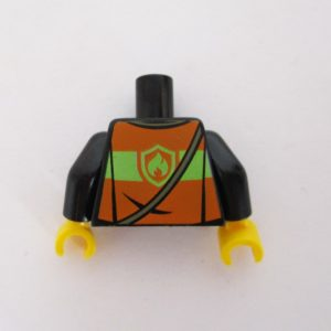 Black w/ Reflective Vest, Radio & Fire Symbol