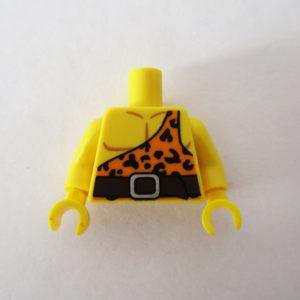 Light Orange One Strap Leopard Print & Belt