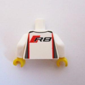 White & Red w/ Audi & 'R8' Logos