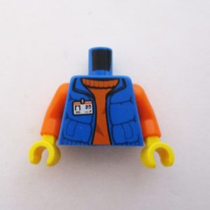 Blue w/ ID Badge & Orange Sweater