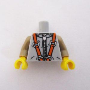 Light grey w/ Zipper, Tan Sleeves & Orange Straps