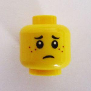Dual Sided Head - Sad & Happy Face w/ Freckles