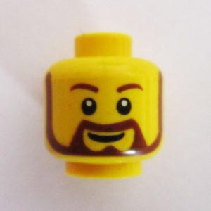 Beard, Mustache & Sideburns w/ Grin