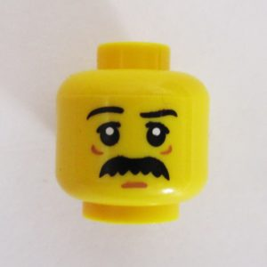 Bushy Mustache & Eye/Chin Lines