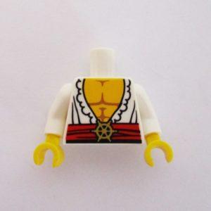 White Open Shirt w/ Sash & Gold buckle