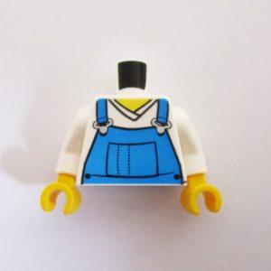 White w/ Blue Overalls