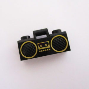 Boom Box - Black w/ Gold