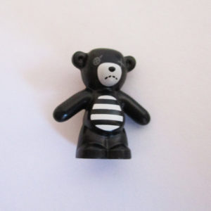 Teddy Bear - Black & White w/ Missing Eye