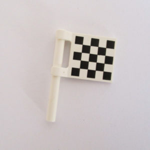 Flag - White w/ Checkered Pattern