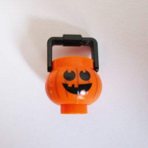 Pot & Handle w/ Jack O' Lantern Face ( Round Eyes )
