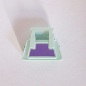 Handheld Bag - Light Aqua & Lavender