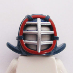 Kendo Helm - Dark Blue w/ Silver & Red
