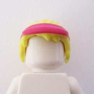 Ponytail w/ Bangs & Pink Visor Cap