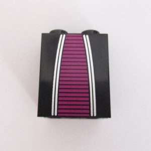 Black w/ Magenta Stripes & Silver Trim
