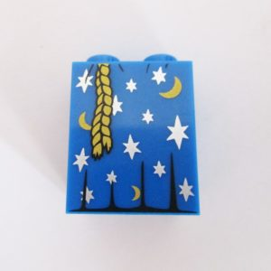 Blue w/ Moons,Stars & Rope