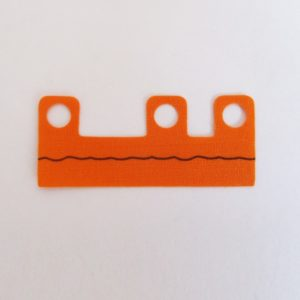 Orange w/ Black Line