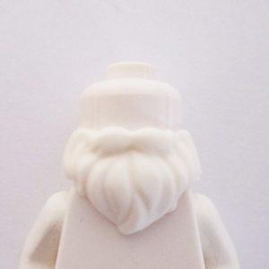 Mid-Length Beard - White