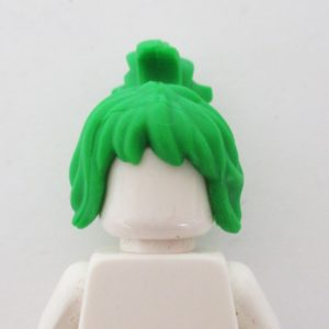 Messy w/ Funky Ponytail - Green
