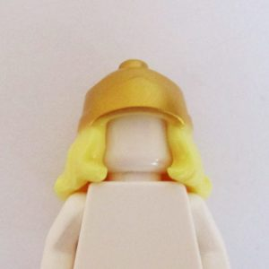 Long w/ Gold Greek Helmet