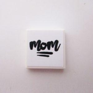 White Tile w/ 'MOM' - Black