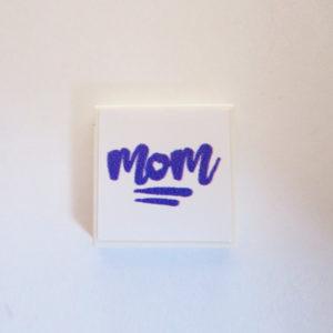 White Tile w/ 'World's Best Mom' - Lavender
