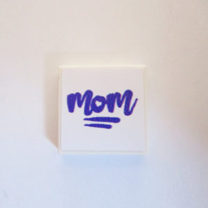 White Tile w/ 'MOM' - Lavender