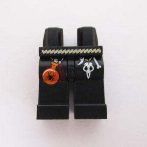 Black w/ Belt, Skull & Spider Bottle