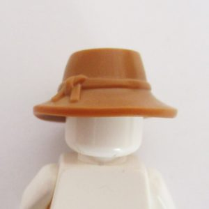 Brim Hat w/ Knotted Band - Light Brown