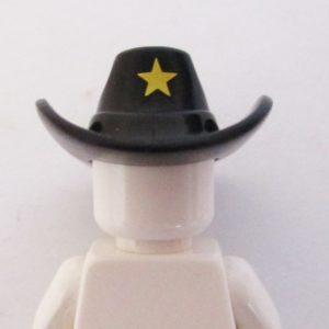 Sheriff Hat - Black w/ Gold Star