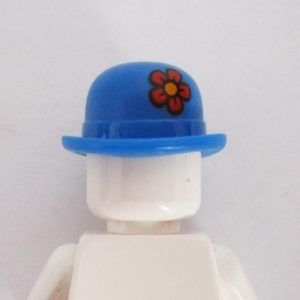 Bowler Hat w/ Flower - Blue