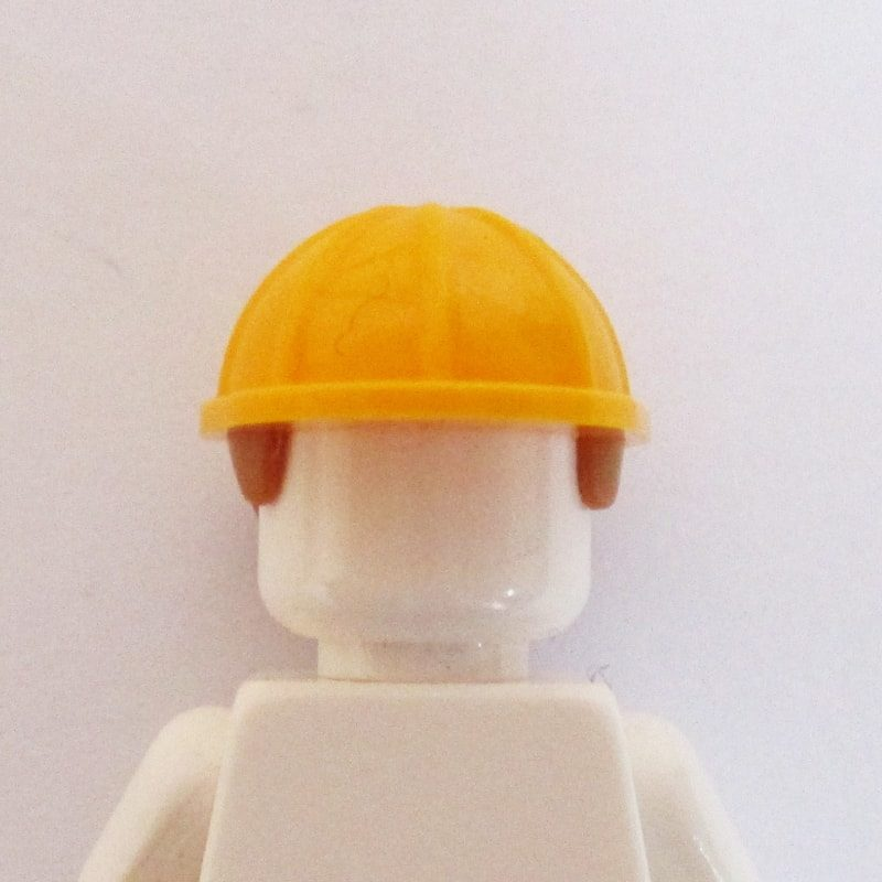 Construction Helm w/ Light Brown Hair - Light Orange