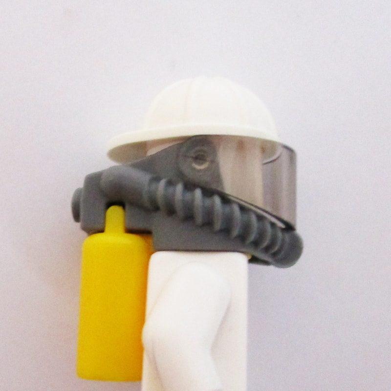 Construction Helm w/ Visor & Air Tank