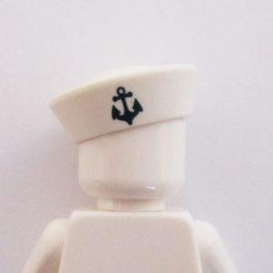 Sailors Cap - White w/ Anchor