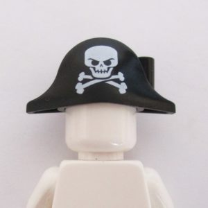Pirate Hat w/ Skull & Crossbones - Black
