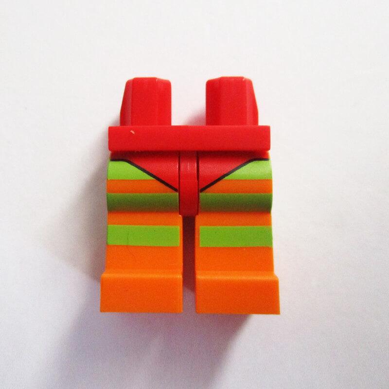 Red w/ Orange & Lime Green Stripes